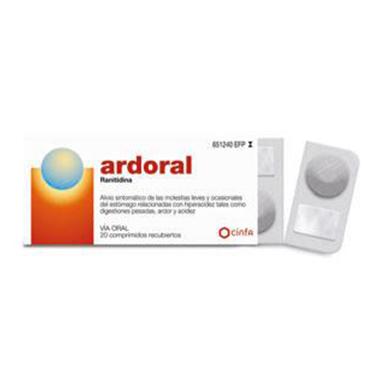 Imagen del producto ARDORAL 75 MG 20 COMPRIMIDOS RECUBIERTOS