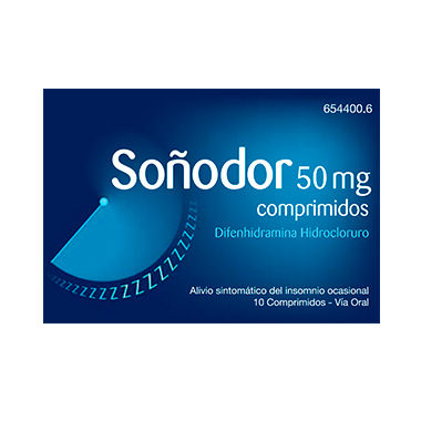 Imagen del producto SOÑODOR 50 MG 10 COMPRIMIDOS