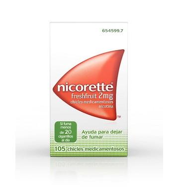 Imagen del producto NICORETTE FRESHFRUIT 2 MG 105 CHICLES