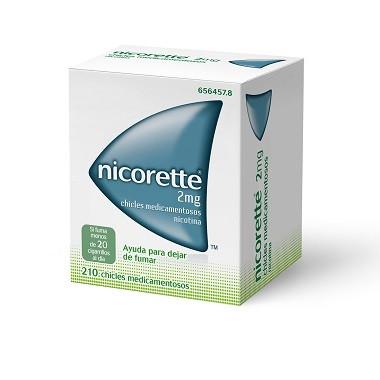 Imagen del producto NICORETTE 2 MG CHICLES MEDICAMENTOSOS 210 CHICLES