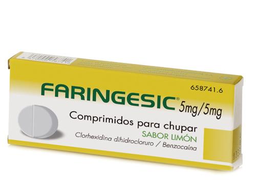 Imagen del producto FARINGESIC 5 MG/5 MG COMPRIMIDOS PARA CHUPAR SABOR LIMÓN, 20 COMPRIMIDOS