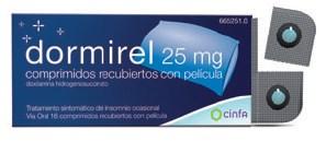 Imagen del producto DORMIREL 25 MG COMPRIMIDOS RECUBIERTOS CON PELÍCULA , 16 COMPRIMIDOS