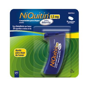 Imagen del producto NIQUITIN 1,5 MG COMPRIMIDOS PARA CHUPAR SABOR MENTA, 20 COMPRIMIDOS