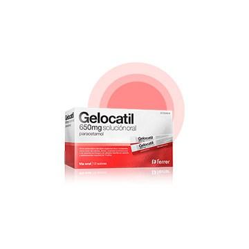 Imagen del producto GELOCATIL 650 MG SOLUCIÓN ORAL 12 SOBRES