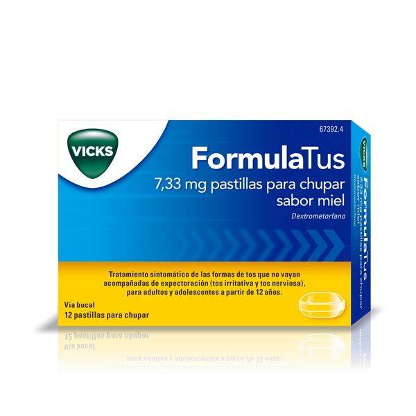 Imagen del producto FORMULATUS 7,33 MG PASTILLAS PARA CHUPAR SABOR MIEL 12 PASTILLAS