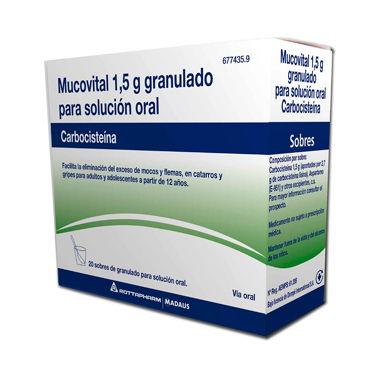 Imagen del producto MUCOVITAL 20 SOBRES 10 SOBRES