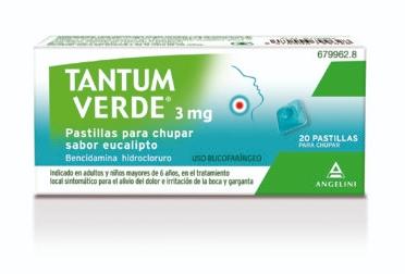 Imagen del producto TANTUM VERDE 3mg  SABOR EUCALIPTO 20 PASTILLAS