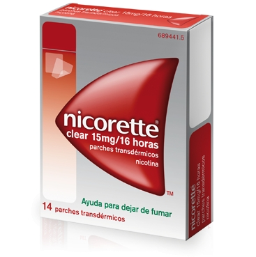 Imagen del producto NICORETTE CLEAR 15 MG/16 HORAS 14 PARCHES