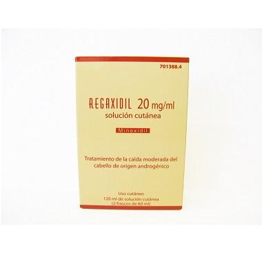 Imagen del producto REGAXIDIL 20 mg/ml SOLUCION CUTANEA , 120 ml (2 frascos de 60 ml)