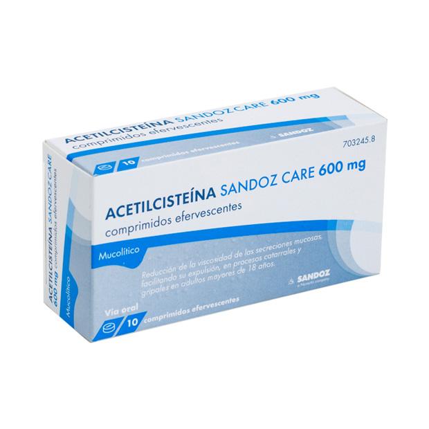 Imagen del producto SANDOZCARE MUCOILITICO 600 mg comprimidos efervescentes EFG. , 10 comprimidos