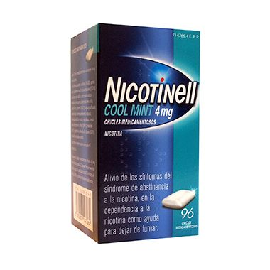 Imagen del producto NICOTINELL COOL MINT 4 MG 96 CHICLES MEDICAMENTOSOS