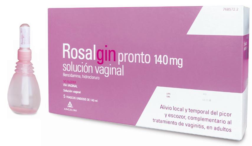 Imagen del producto ROSALGIN PRONTO 140 MG SOLUCIÓN VAGINAL 5 ENVASES UNIDOSIS DE 140 ML
