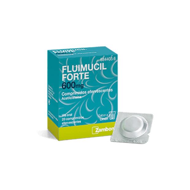Imagen del producto FLUIMUCIL FORTE 600 mg COMPRIMIDOS EFERVESCENTES , 20 comprimidos
