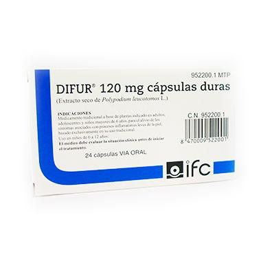 Imagen del producto DIFUR 120 mg CAPSULAS DURAS , 24 cápsulas