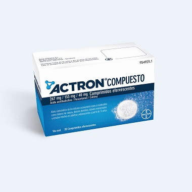 Imagen del producto ACTRON COMPUESTO 20 COMPRIMIDOS EFERVESCENTES