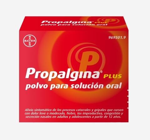 Imagen del producto PROPALGINA PLUS POLVO PARA SOLUCIÓN ORAL 10 SOBRES