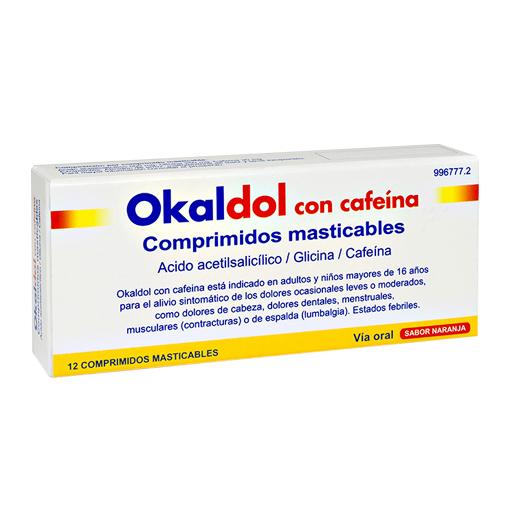 Imagen del producto OKALDOL CON CAFEÍNA 12 COMPRIMIDOS MASTICABLES